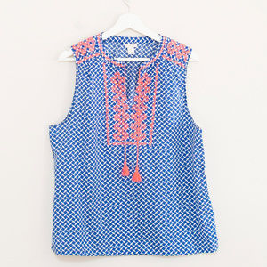 J. Crew Cotton Embroidered Top 14
